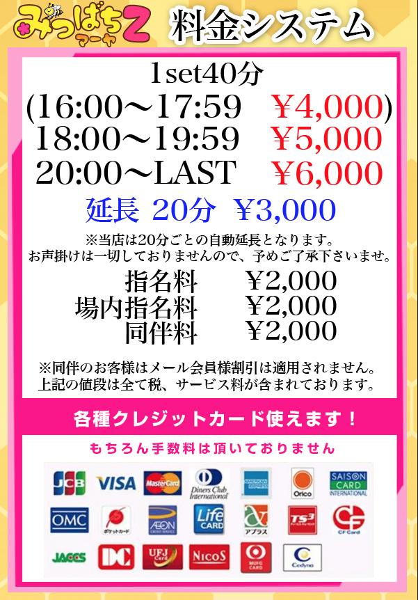 池袋素人専門JK制服いちゃキャバ【みつばちマーヤZ】 料金システム